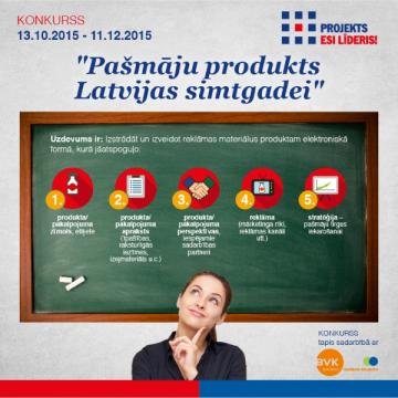 """Konkurss """"Pašmāju produkts Latvijas simtgadei"""""""