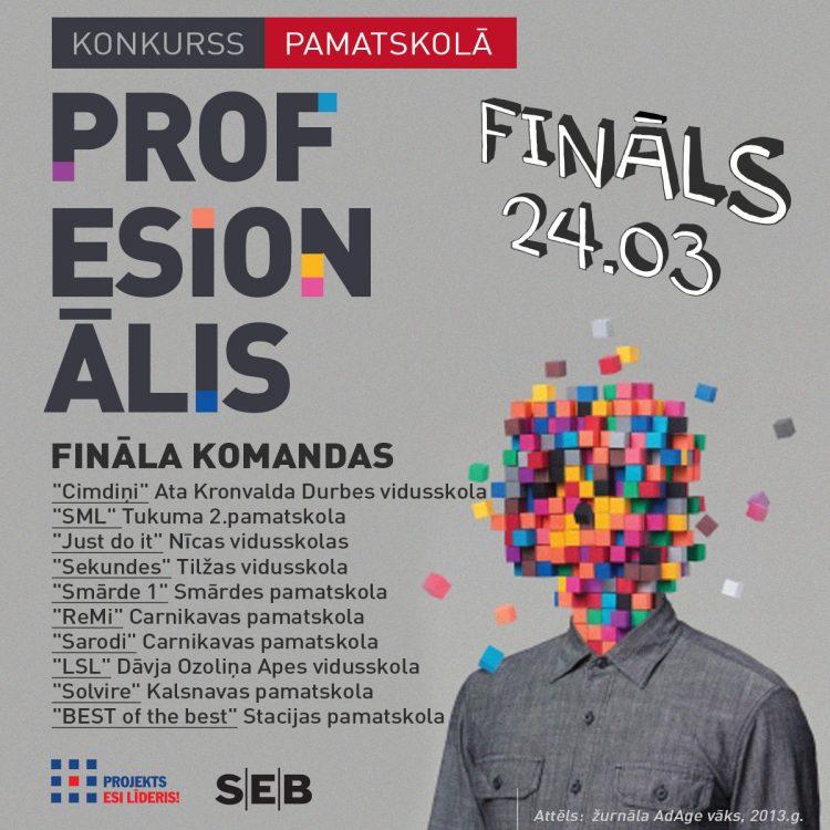 """Pamatskolēnu konkurss """"PROFESIONĀLIS 2017"""" noslēdzies!"""