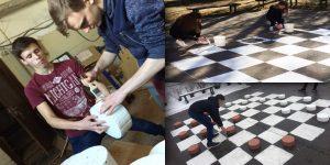 """""""Dambretes laukuma izgatavošana"""" Projekta autori: Liliāna Krasutina, Guntis Petrovskis, Linda Šaļapina un Edvīns Mekšs (Ludzas pilsētas ģimnāzija)"""