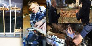 """""""Sargāsim vidi"""" Projekta autori: Nikita Bašmakovs, Maksims Ameļčenkovs, Žanis Kīlaitis un Inguss Sutins (Kaunatas vidusskola)"""