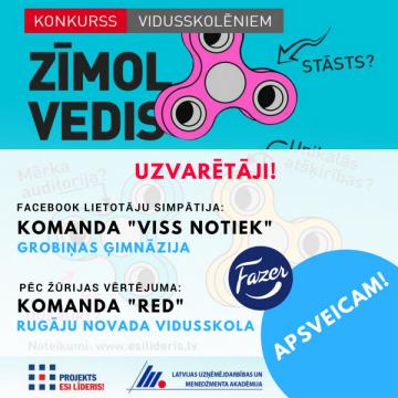 Zīmolvedis 2017 uzvar Grobiņas ģimnāzijas un Rugāju novada vidusskolas komandas