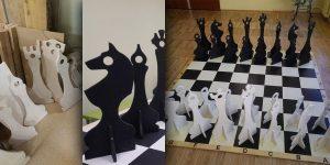Lielformāta šahs. Projekta autori: Intars Jomants, Nadīna Atrahimoviča, Santa Junkere