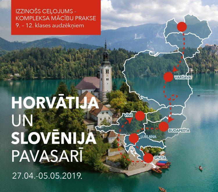 """Mācību prakse- izzinošais ceļojums """"Horvātija un Slovēnija pavasarī"""""""