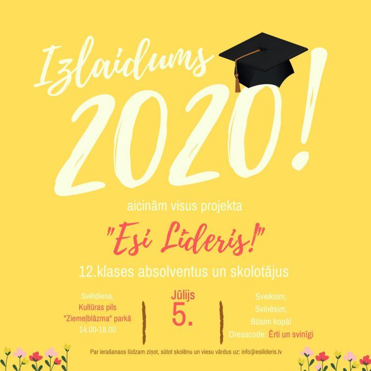 IZLAIDUMS 2020!